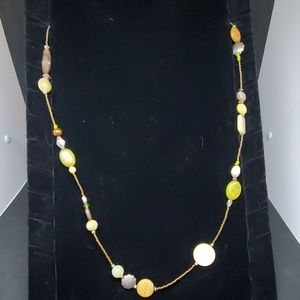 Brown & Green Beaded Necklace